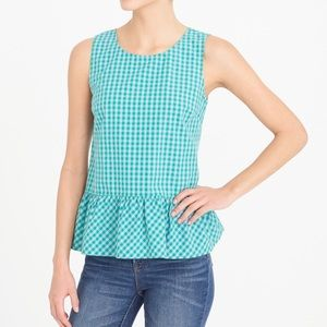 NWT Printed Bow-Back Peplum Tank Top